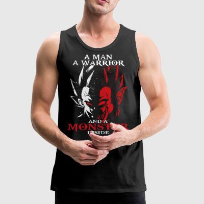 dragon ball majin vegeta monster in side - Men's Premium Tank