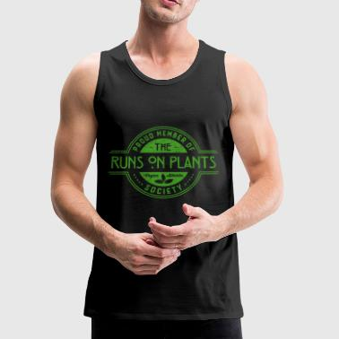 Runs On Plants Athlete Society Club Member Gift - Men's Premium Tank
