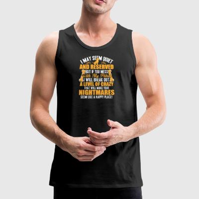 Don't Mess With My Pit Bull T Shirt - Men's Premium Tank