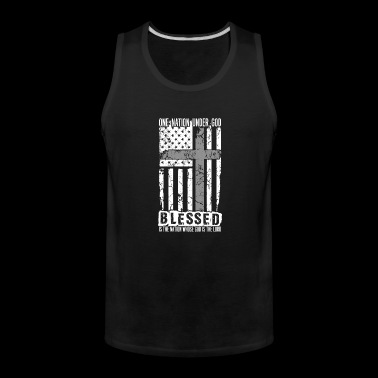 Christian - Under god blessed, god is the lord - Men's Premium Tank