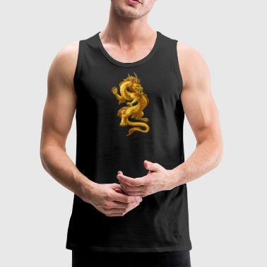 Gold Chinese Dragon - Men's Premium Tank