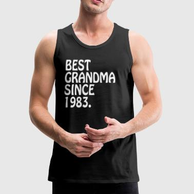The Best Grandma Gifts 1983 Best Great Grandma Gifts - Men's Premium Tank