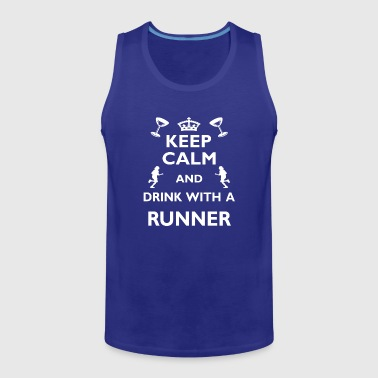 Running Run Cool Funny Gift - Drink with Runner - Men's Premium Tank