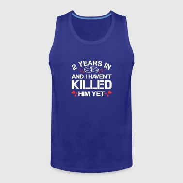 2nd Wedding Anniversary Wife - Men's Premium Tank