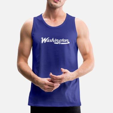 Washington D.c. Washington D.C. Vintage Logo - Men's Premium Tank