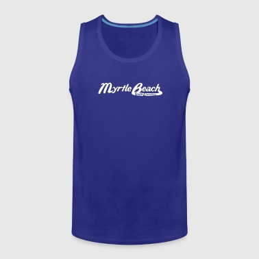Myrtle Beach South Carolina Vintage Logo - Men's Premium Tank