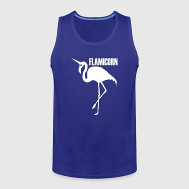 flamingo unicorn hybrid creature hybrids white - Men's Premium Tank