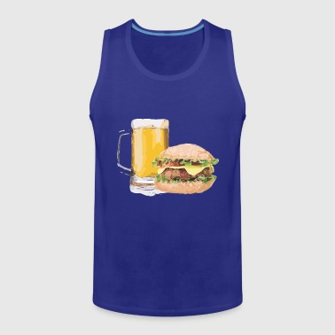 burger and beer - Men's Premium Tank