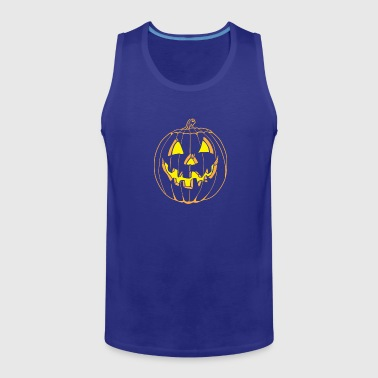 Pumpkin smile - Men's Premium Tank