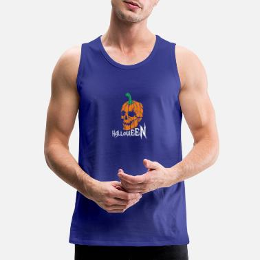Logo scary pumpkin head - Men's Premium Tank