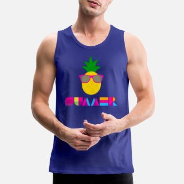 summer pineapple - Men's Premium Tank Top
