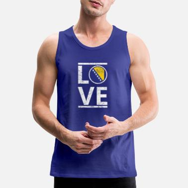 Bosnia roots love heimat herkunft queen Bosnien Herzegowi - Men's Premium Tank Top
