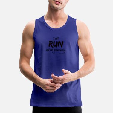 Christian I will run and not grow weary. - Men's Premium Tank Top
