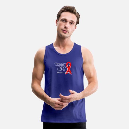 Breast Cancer Month Tank Tops - Knockout breast cancer - Men's Premium Tank Top royal blue