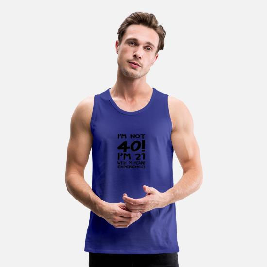 Nothing Tank Tops - I'm not forty - Men's Premium Tank Top royal blue