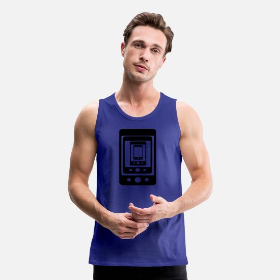 Proud Tank Tops - phone phone phone - Men's Premium Tank Top royal blue