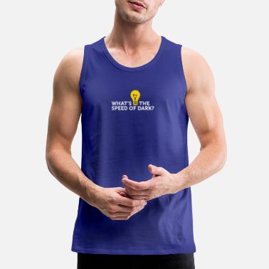 Travelling What's The Speed Of Dark? - Men's Premium Tank Top