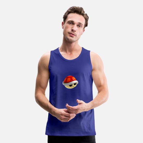 Mario Tank Tops - Mario Kart Red Shell - Men's Premium Tank Top royal blue