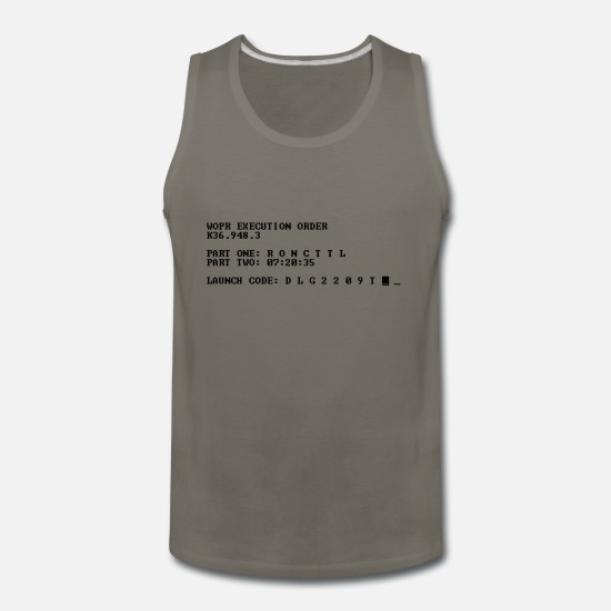 Professor Tank Tops - WOPR - Men's Premium Tank Top asphalt gray