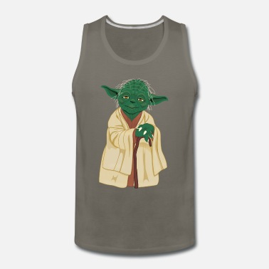 Vector Art Yoda Vector Art - Men's Premium Tank Top