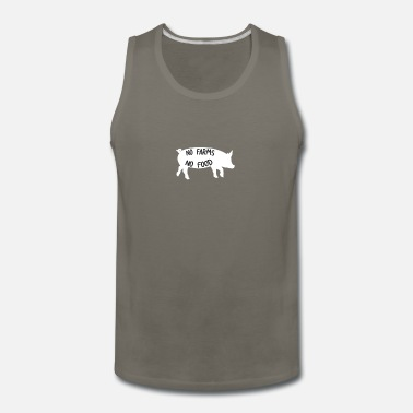Support No Farms No Food | Funny Gift - Men's Premium Tank Top