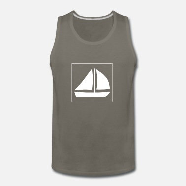 Sailing Sail Boat with two sails - Men's Premium Tank