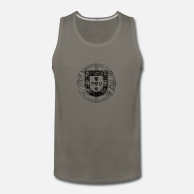 Portugal Vintage Portugal Black - Men's Premium Tank Top