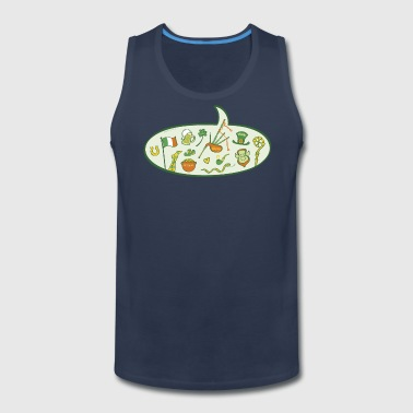 Saint Patrick's Day Speech Balloon - Men's Premium Tank