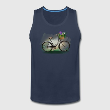 Bicycle with flowers - Men's Premium Tank