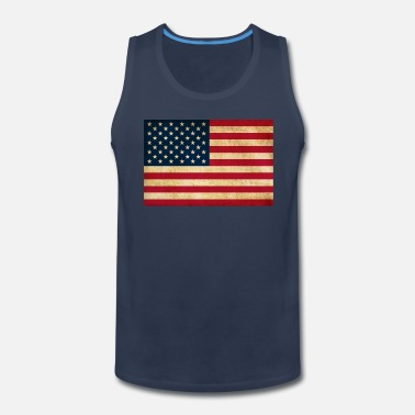 d413bd5be69489 Grunge Vintage Patriotic American Flag Men s Polo Shirt