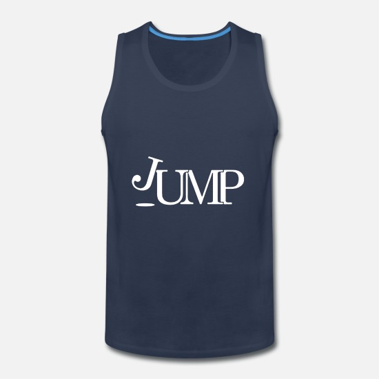 Jumping Spot Tank Tops - Jump - Men's Premium Tank Top navy