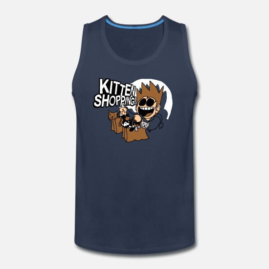 Kitten Tank Tops - EDDSWORLD KITTEN SHOPPING - Men's Premium Tank Top navy