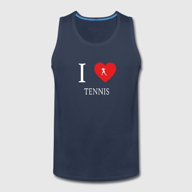 I Love TENNIS - Men's Premium Tank