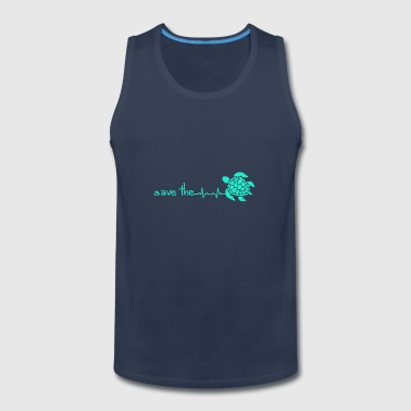 Save The Turtles Heartbeats Gift Design - Men's Premium Tank