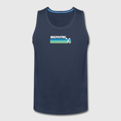 Retro Weightlifting - Men's Premium Tank