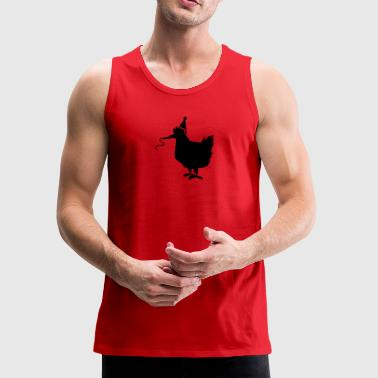 PARTY birthday hen chook chicken with a party whistle - Men's Premium Tank