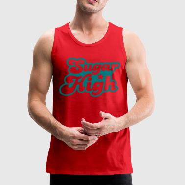 sugar high blue in a funky font - Men's Premium Tank