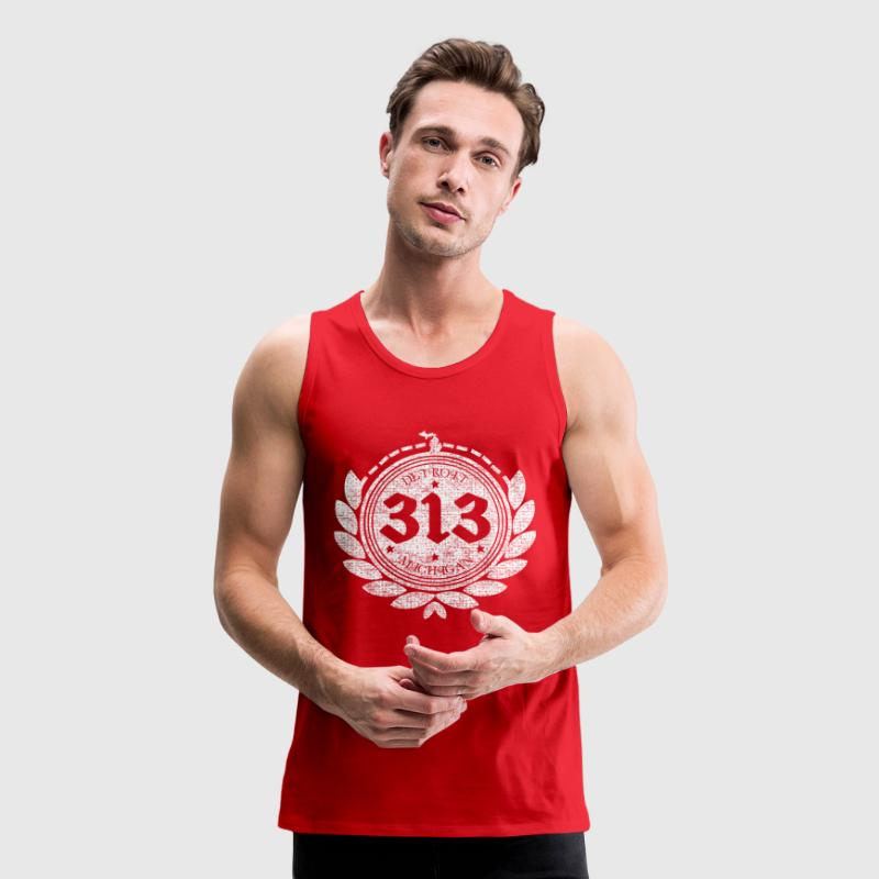 A Detroit Logo 313 Motor City Michigan Clothing - Men's Premium Tank