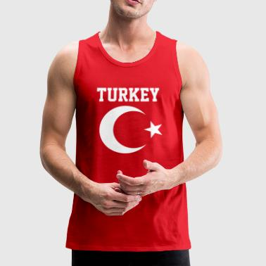 Turkish Turkey Flag Crescent Moon and Star - Men's Premium Tank