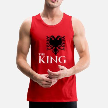 Albania the king of albania kosovo albanian eagle T-shirt - Men's Premium Tank