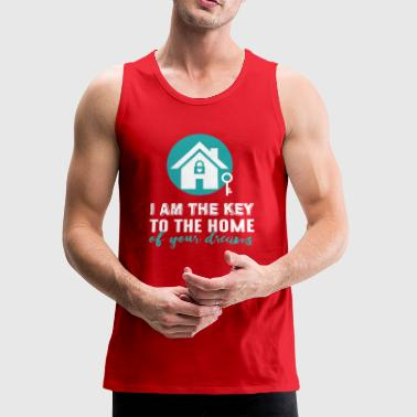 REAL ESTATE WOMAN - Men's Premium Tank