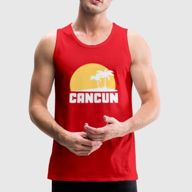 Cancun Mexico Sunset Palm Trees Beach - Men's Premium Tank