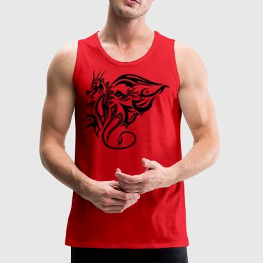 Chinese Tribal dragon with wings - Men's Premium Tank