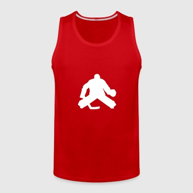Hockey Goalie Silhouette - Men's Premium Tank