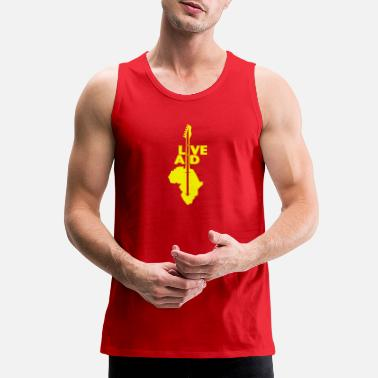 Band Live Aid Band Aid logo - Men's Premium Tank Top