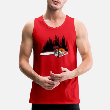 Your Forestry Business - Chainsaw & Pine Forest - Men's Premium Tank Top