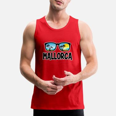 Mallorca Funny Mallorca Glasses - Men's Premium Tank Top