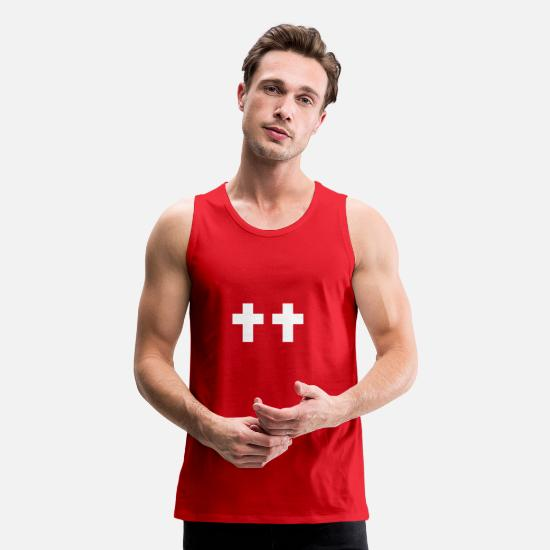 Christ Tank Tops - CROSS - Men's Premium Tank Top red