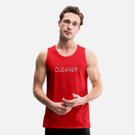 Cleaner Tank Tops - Cleaner Broad City - Men's Premium Tank Top red