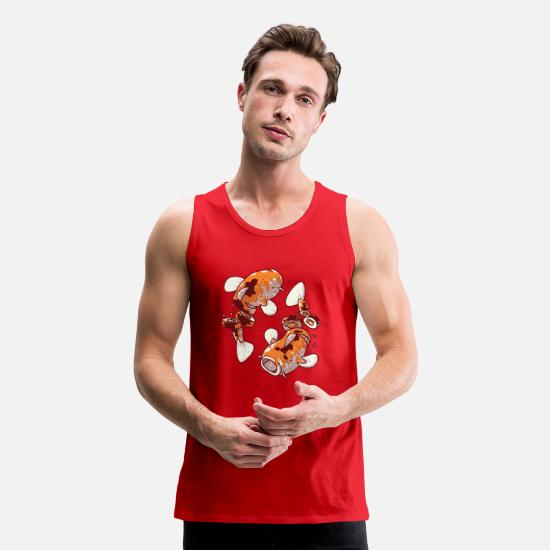 Game Tank Tops - Koi Sushi - Men's Premium Tank Top red